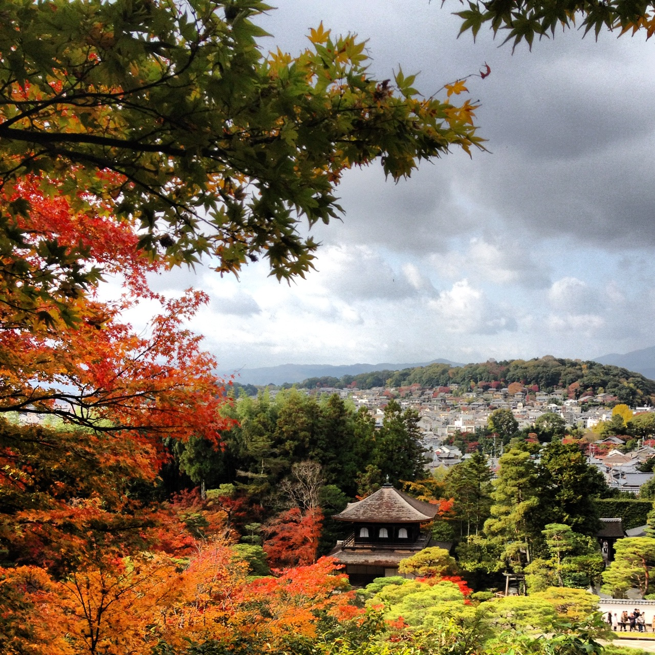Kyoto Japan View from Silver Pavilion