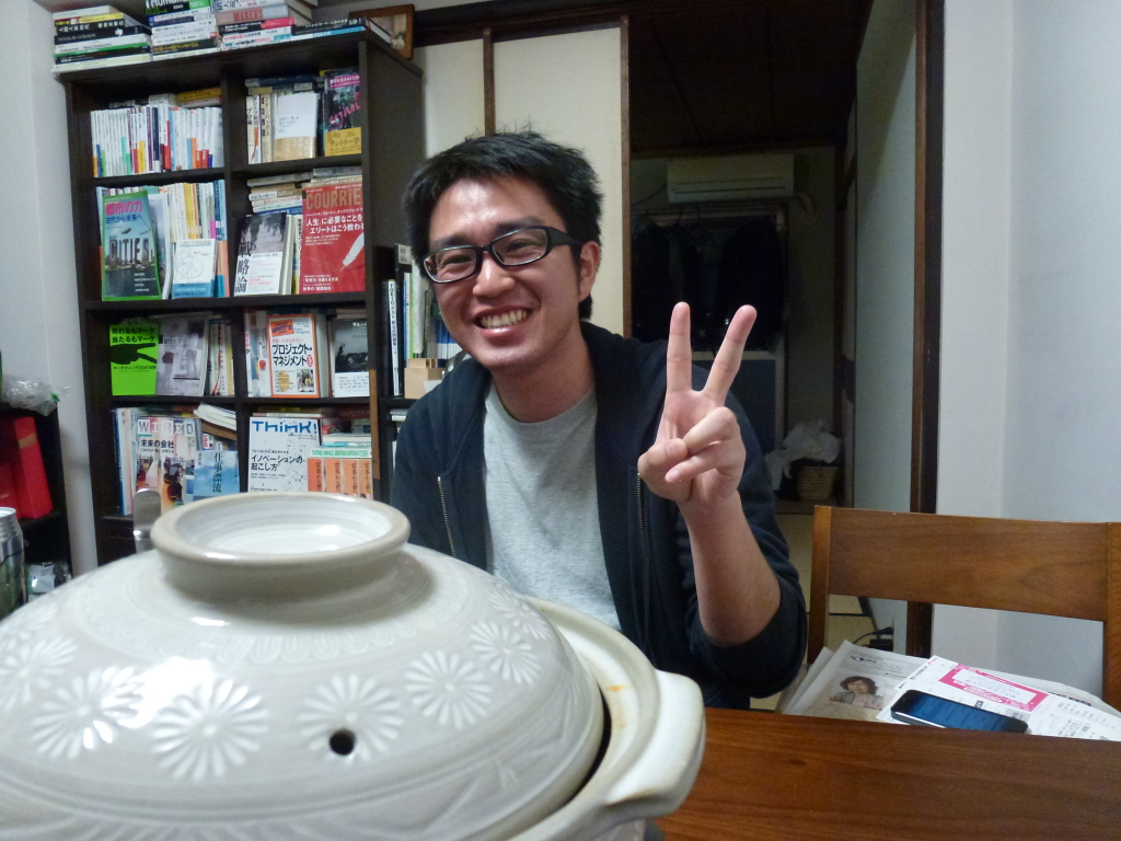 My couchsurfing host in Nagoya, Norimasa-san!
