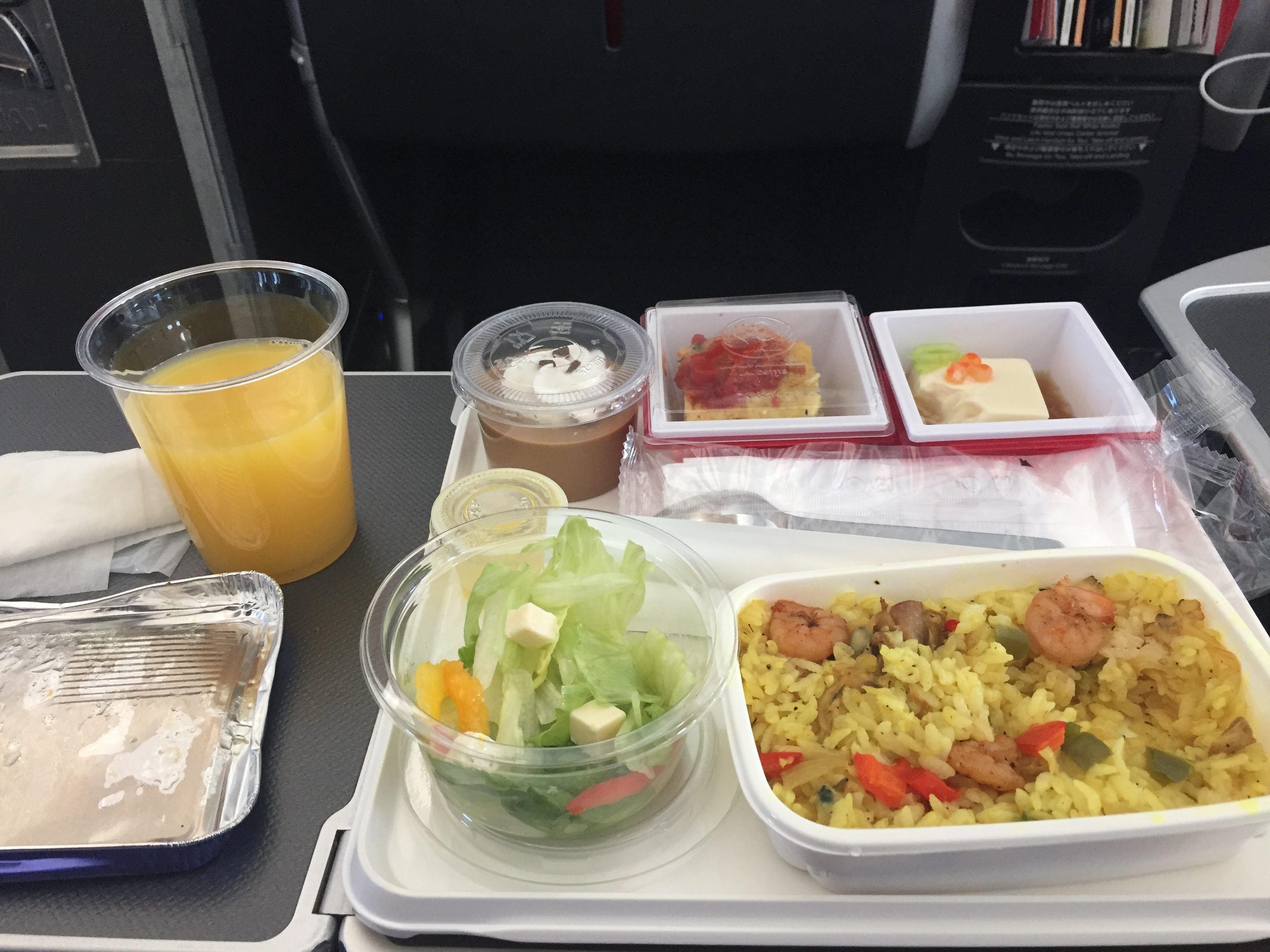 JAL Business Class Meal